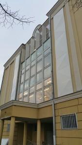   Magyar Nemzeti Levéltár részére árnyékolók készítése perforált acéllemezből. - Magyar Nemzeti Levéltár részére árnyékolók készítése perforált acéllemezből.